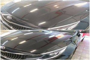 Внешний вид автомобиля до и после покрытия защитным воском