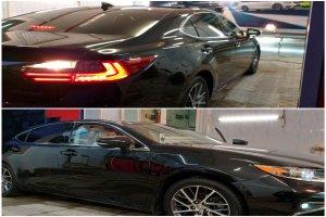 Полировка кузова и нанесение жидкого стекла на Lexus ES 250