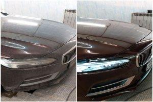 Volvo S90 до и после полировки