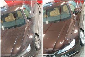 Кузов Volvo S90 до и после полировки