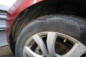 Колесо Mazda CX7 до чистки дисков