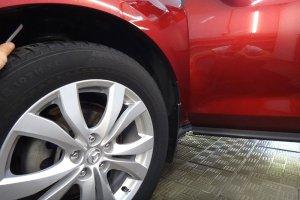 Колесо Mazda CX7 после чистки дисков